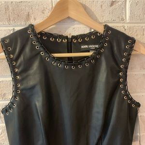 NWT Karl Lagerfeld Leather Dress